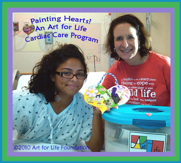 Not just a heart patient, how about an artist showing us what makes her heart happy!